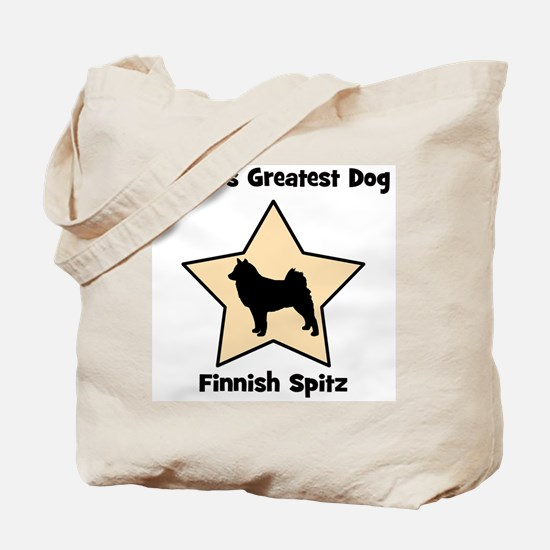 Worlds Greatest Finnish Spitz Tote Bag