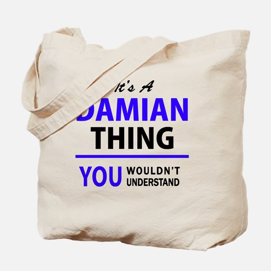 Cute Damian Tote Bag