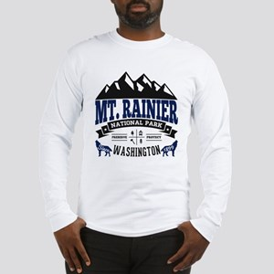 Mt. Rainier Vintage Long Sleeve T-Shirt