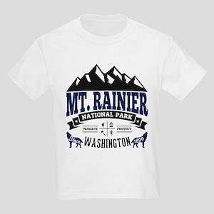 Mt. Rainier Vintage Kids Light T-Shirt