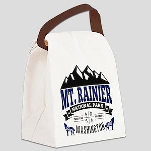Mt. Rainier Vintage Canvas Lunch Bag