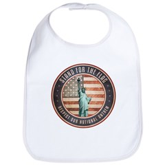 Stand For The Flag Baby Bib