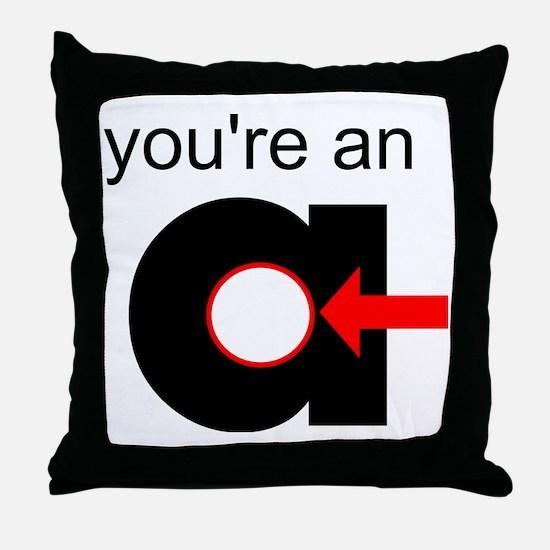 You're an A-Hole Throw Pillow