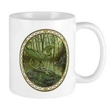 Forest Leaf Dragon Mug