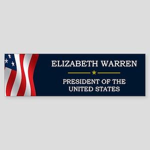 Elizabeth Warren President V3 Sticker (Bumper)