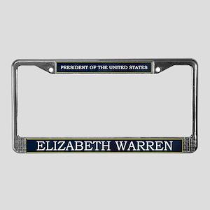 Elizabeth Warren President V3 License Plate Frame