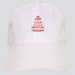 Keep calm you live in Newton Mississippi Cap