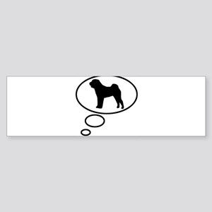 Thinking of Chinese Shar Pei Bumper Sticker