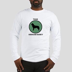 Team Siberian Husky (green) Long Sleeve T-Shirt