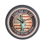 Stand For The Flag Wall Clock
