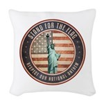 Stand For The Flag Woven Throw Pillow