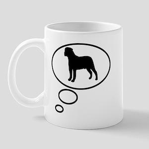 Thinking of Bullmastiff Mug