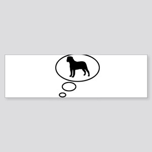 Thinking of Bullmastiff Bumper Sticker