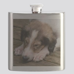 Snoozing Borzoi Puppy Flask