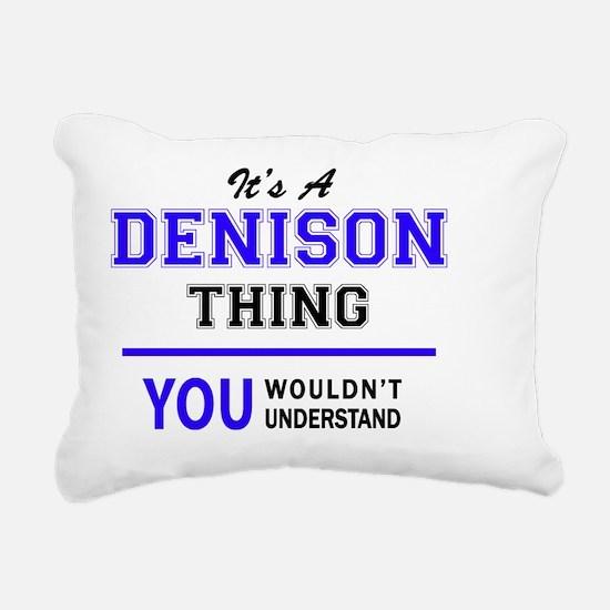 Unique Denison Rectangular Canvas Pillow