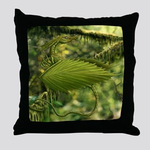 Perched Earth Dragon Throw Pillow