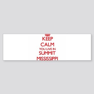 Keep calm you live in Summit Missis Bumper Sticker