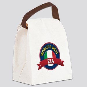 World's Best Zia Canvas Lunch Bag
