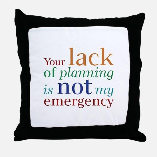 Planning Throw Pillow