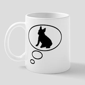 Thinking of French Bulldog Mug