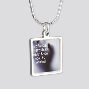 Myofascial Therapists Real Silver Square Necklace