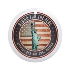 Stand For The Flag Round Ornament