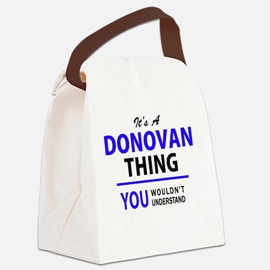 Unique Donovan Canvas Lunch Bag