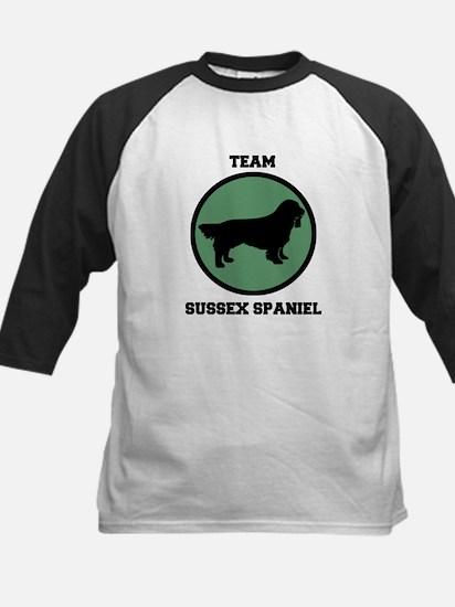 Team  Sussex Spaniel (green) Kids Baseball Jersey