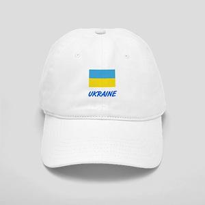 Ukraine Flag Artistic Blue Design Cap