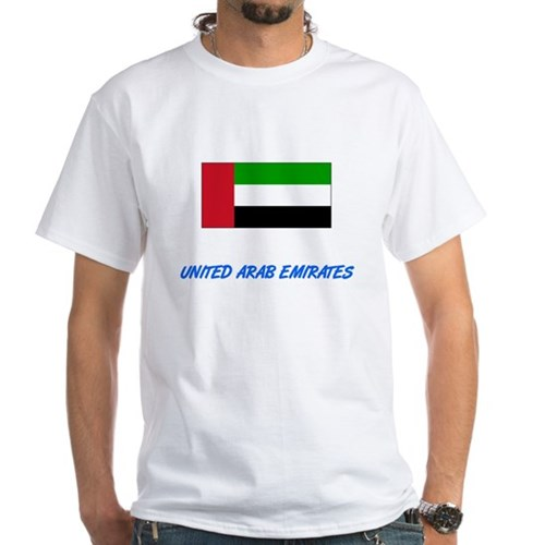 United Arab Emirates Flag Artistic Blue De T-Shirt