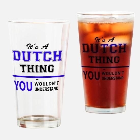 Cute Dutch Drinking Glass
