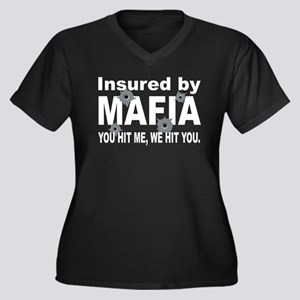 Insured by Mafia Women's Plus Size V-Neck Dark T-S