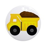 Dump Truck Ornament (Round)