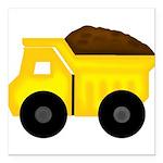 Dump Truck Square Car Magnet 3