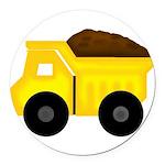 Dump Truck Round Car Magnet