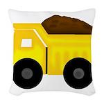 Dump Truck Woven Throw Pillow
