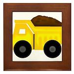 Dump Truck Framed Tile
