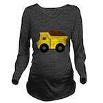 Dump Truck Long Sleeve Maternity T-Shirt