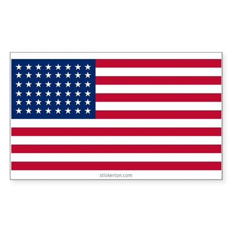 U.S. 48-star Flag Rectangle Sticker
