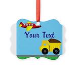 Trucks and Planes Ornament