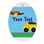 Trucks and Planes Ornament (Oval)