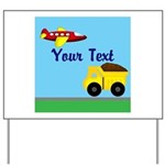 Trucks and Planes Yard Sign