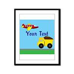 Trucks and Planes Framed Panel Print