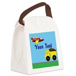 Trucks and Planes Canvas Lunch Bag