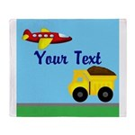 Trucks and Planes Throw Blanket