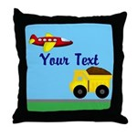 Trucks and Planes Throw Pillow