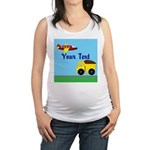 Trucks and Planes Maternity Tank Top