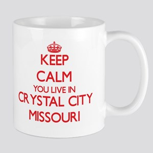 Keep calm you live in Crystal City Missouri Mugs