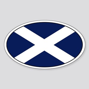 Scottish flag Oval Sticker