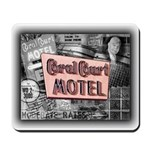 Coral Court Motel COLLAGE Mousepad